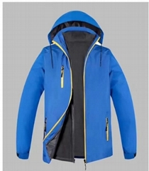 SympaTex 户外外套加绒加厚保暖抓绒内胆可拆三合一冲锋衣
