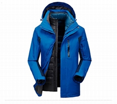 Men's 3 in 1 jacket coat high quality outdoor jackets performance wear