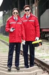 定製防靜電紅色防寒工作服,防靜電棉服,防靜電工作服