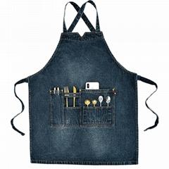 Wholesale customized high quality denim apron design denim apron