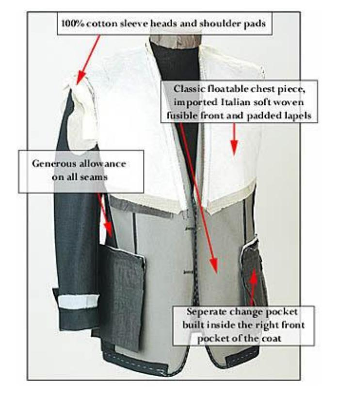 定制高品质毛料男式海纳维尔西服套装 职业装 3