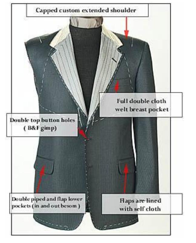 定制高品质毛料男式海纳维尔西服套装 职业装 4