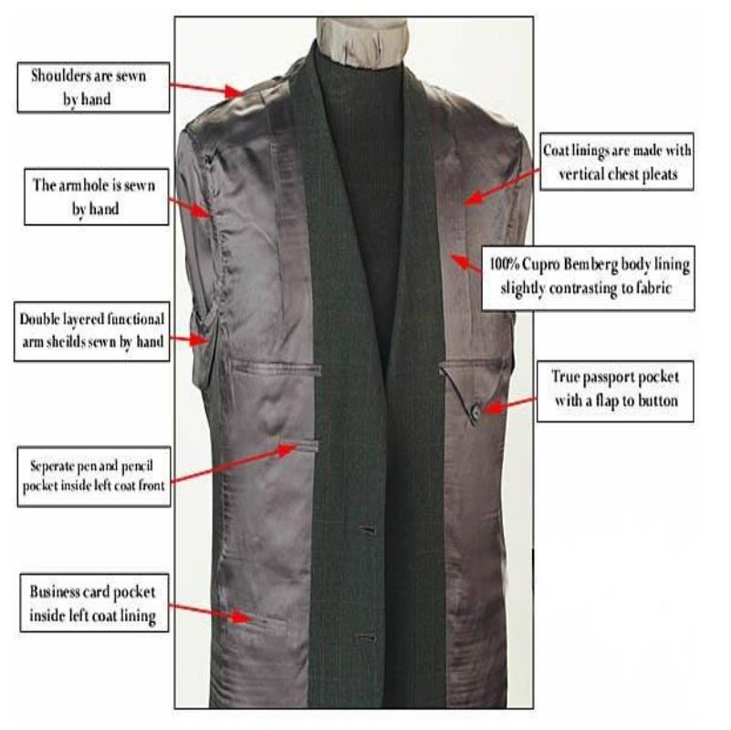 定制高品质毛料男式海纳维尔西服套装 职业装 5