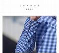 2021春夏男装透气棉长袖格子衬衣休闲修身上衣衬衫 9