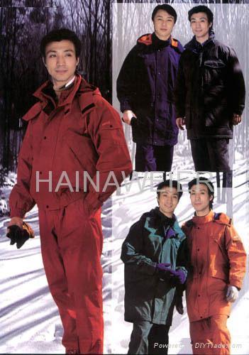 成都工厂直销定制海纳维尔工作服(防寒服)HNW011 1