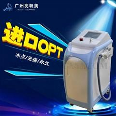 新款三合一OPT脫毛美容儀器冰點無痛多功能激光射頻祛斑黑臉娃