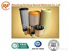 Air filter paper for heavy duty air filtration