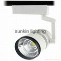 white and black color cob led track light 15W 20W  30W led track spot light 2