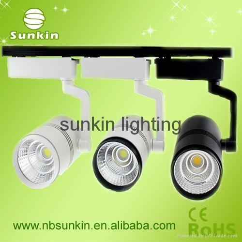 white and black color cob led track light 15W 20W  30W led track spot light 3
