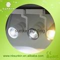 white and black color cob led track light 15W 20W  30W led track spot light 5