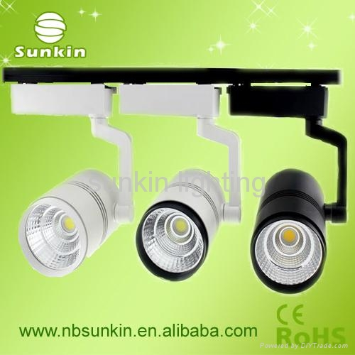 2016 new products 12W cob led track light,white color track lighting Manufacture 1