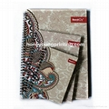 Fancy pattern lined notebook hardcover spiral bound 1
