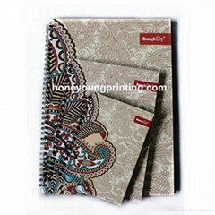 Fancy pattern lined notebook hardcover spiral bound