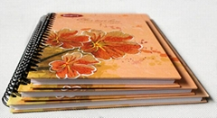Flower hardcover notebook spiral binding