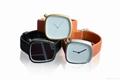 新款石英表簡約設計皮帶表鵝卵石形狀手錶 5