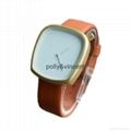 新款石英表简约设计皮带表鹅卵石形状手表 3