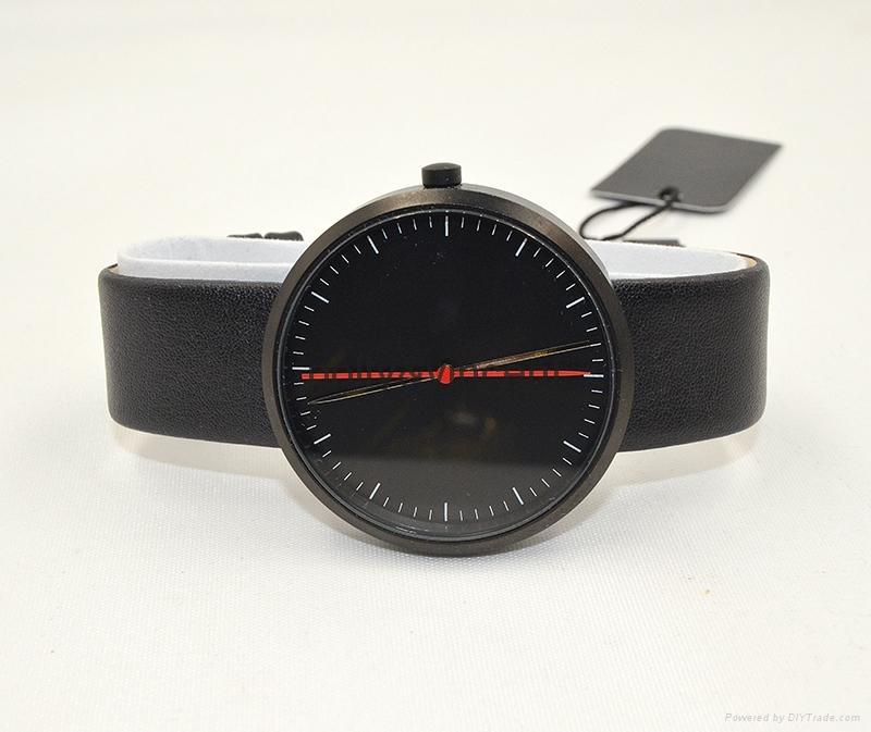 新款紅點手錶男女式石英表簡約歐美風大表盤皮帶表 4