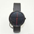 新款紅點手錶男女式石英表簡約歐美風大表盤皮帶表 2