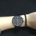 新款红点手表男女式石英表简约欧美风大表盘皮带表 1