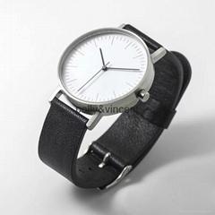 新款簡約手錶男女士簡約皮帶表商務休閑石英表