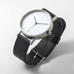 New simple watch man and woman leather