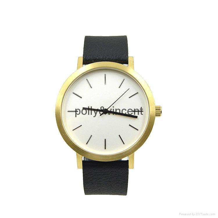 宝丽文森新款手表男女士简约石英表商务休闲皮带表 1