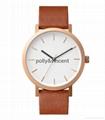 寶麗文森新款手錶男女士簡約石英表商務休閑皮帶表 2