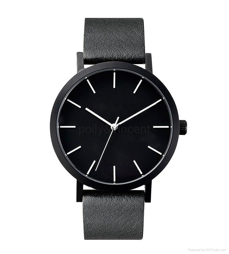 寶麗文森新款手錶男女士簡約石英表商務休閑皮帶表 4