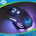 Top selling gaming mouse with led light 6D game mouse 5