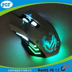 Top selling gaming mouse with led light 6D game mouse