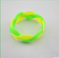 silicone colorful wristband bracelet