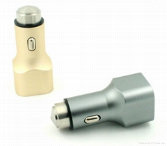 USB car charger,metal car charger
