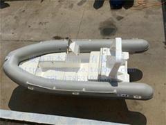 5米灰色玻璃钢橡皮艇