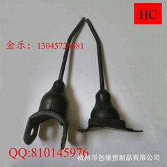 Harvesting equipment accessories and rubber rubber plug tooth