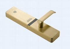 供應德蒙金盾指紋鎖C1黃古銅