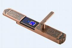 供應德蒙金盾指紋鎖D1紅古銅