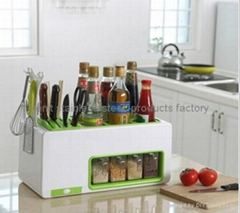Plastic Knife Rack Seasoning Pot Kitchen Storage