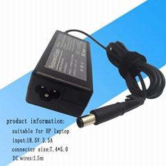 功率65W 輸出為18.5V 3.5A, 適用於惠普筆記本充電器