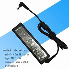 适用联想笔记本电源适配器  输出功率65W 20V 3.25A 超级本充电器