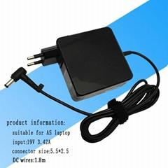 华硕笔记本电源适配器 65w 19v 3.42a 超级本电源充电器
