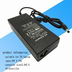 东芝笔记本电源适配器 90w 19v 4.74a 超级本充电器