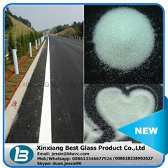 Sample available drop on glass beads for road marking