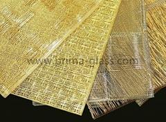 Prima customized metal mesh laminated glass