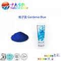 natural food color/colour gardenia blue
