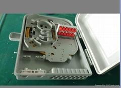 12芯塑料光纖分纖箱 法蘭機架式