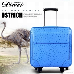 Professional custom Exotic ostrich leather luggage