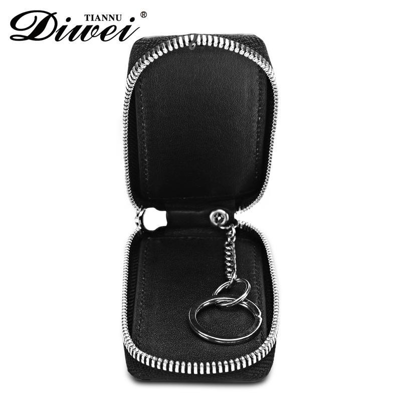 Genuine leather car key bag factory 4