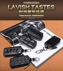 Genuine leather car key bag factory