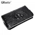 crocodile skin clutch wallet