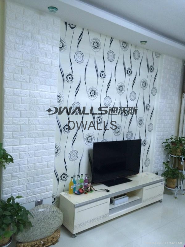 Room deco removable 3d brick wall stickers x6 dwalls for Room decoration products